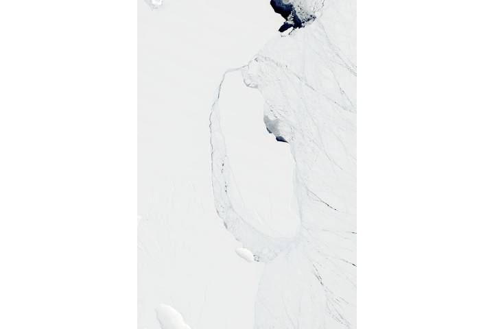 Iceberg A68A off the Larsen C ice shelf, Antarctica - selected image