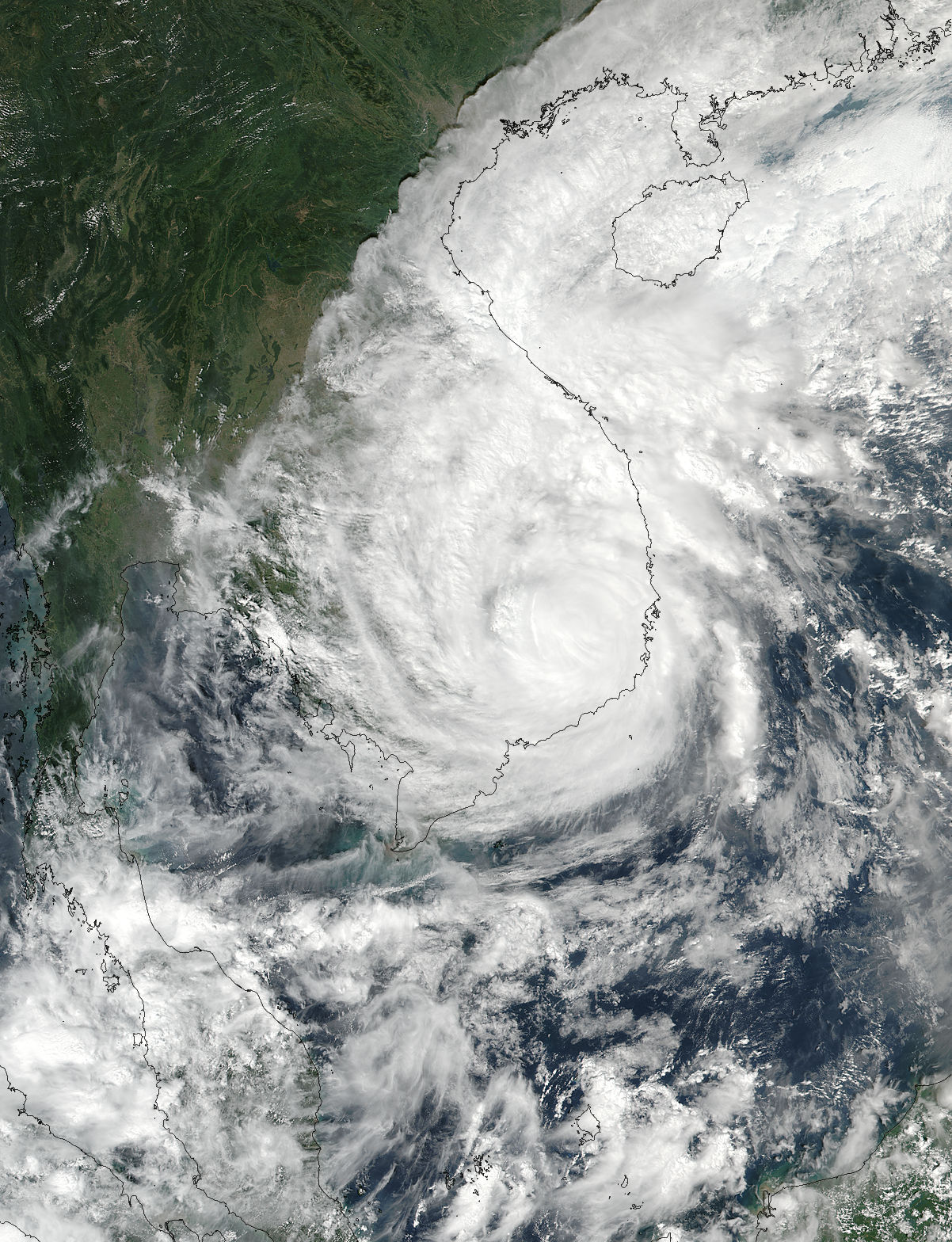 Typhoon Damrey (28W) over Indochina - related image preview