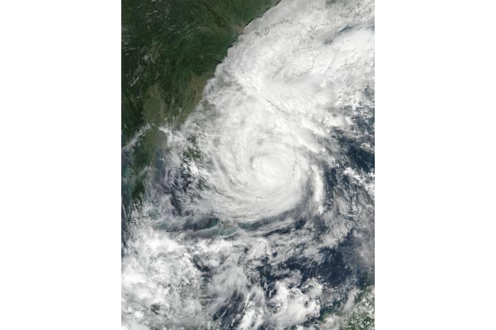 Typhoon Damrey (28W) over Indochina - selected image