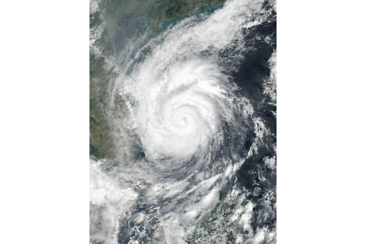 Typhoon Damrey (28W) over Vietnam - selected image