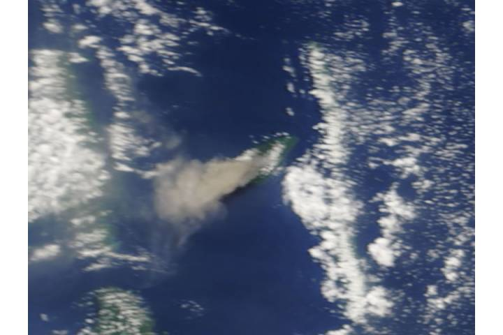 Ash plume from Aoba Volcano, Vanuatu (morning overpass) - selected image