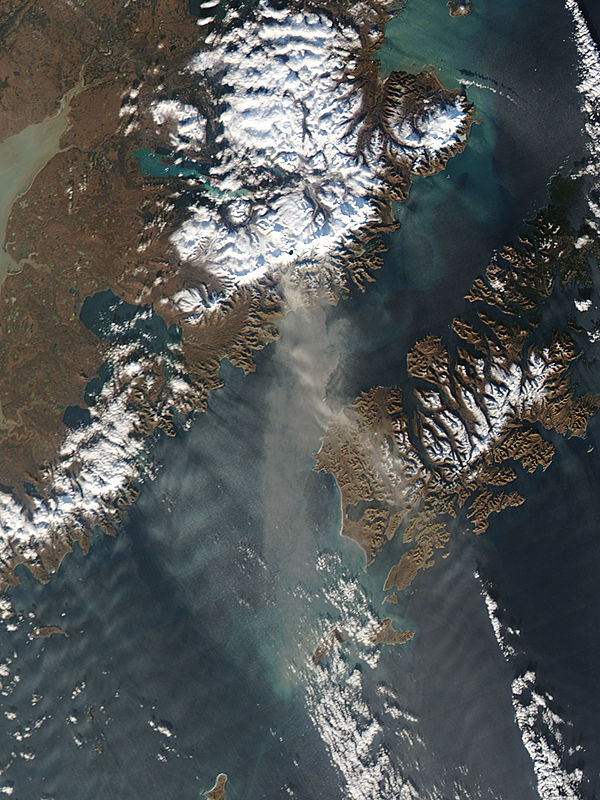 Resuspended volcanic ash from Katmai, Alaska - related image preview