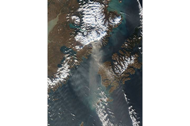 Resuspended volcanic ash from Katmai, Alaska - selected image