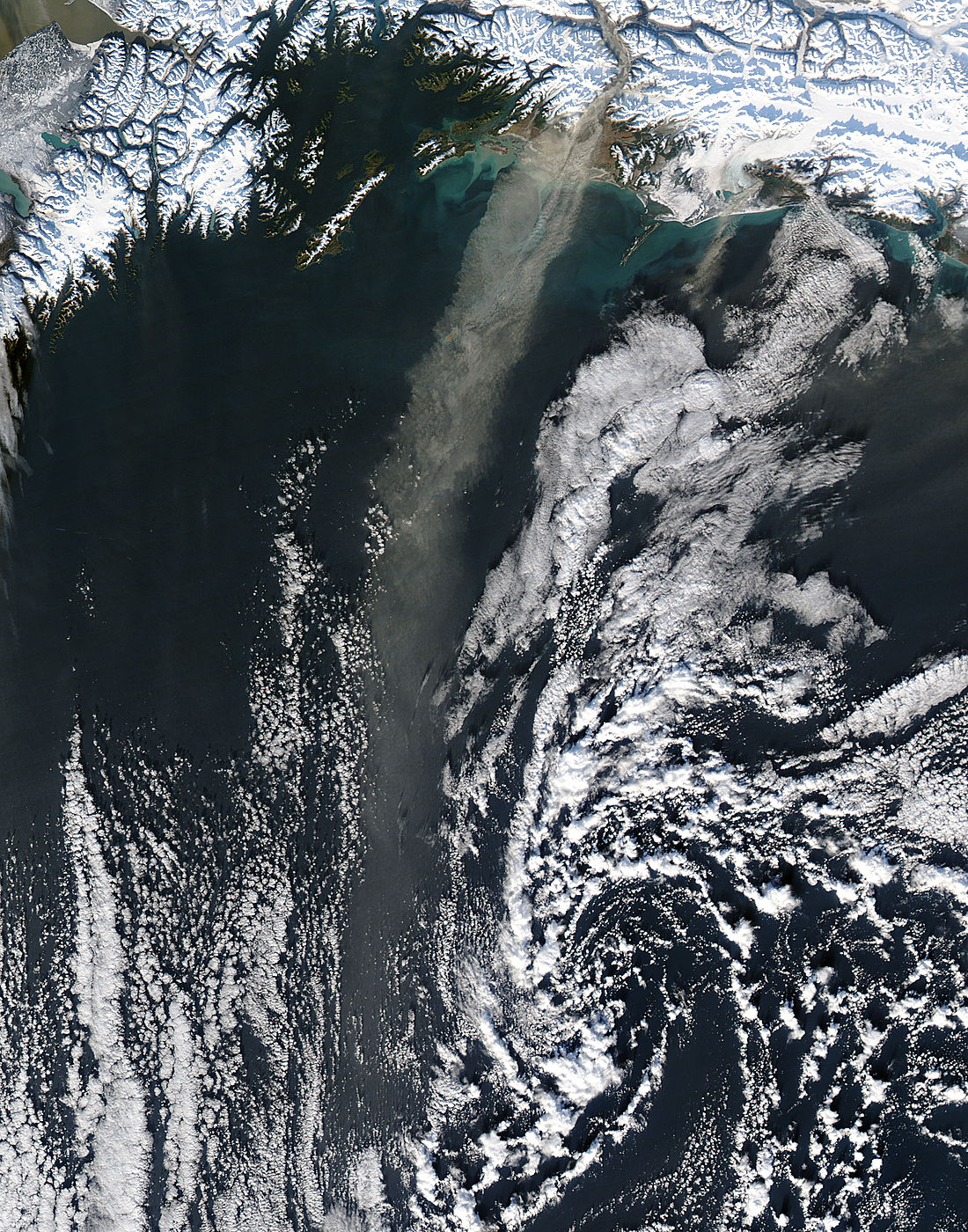 Dust storm off southern Alaska - related image preview