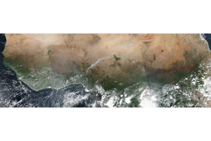 Fires across Central Africa - selected image