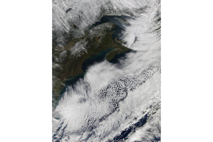 Cloud streets off northeast United States - selected image