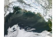 Dust storms off southern Alaska