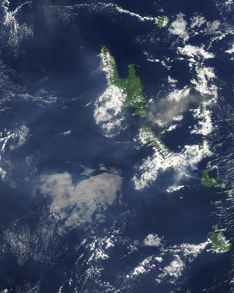 Ash plume from Aoba Volcano, Vanuatu (afternoon overpass) - related image preview
