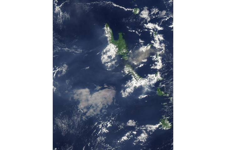 Ash plume from Aoba Volcano, Vanuatu (afternoon overpass) - selected image