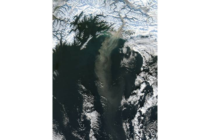 Dust storm off southern Alaska - selected image