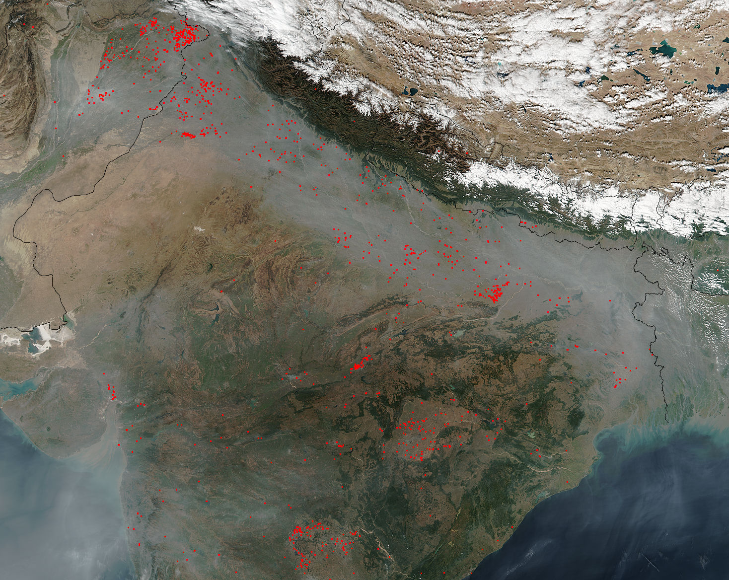 Fires and smoke in northern India - related image preview