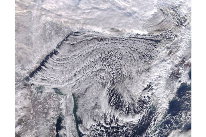 Cloud streets in the Sea of Okhotsk - selected image