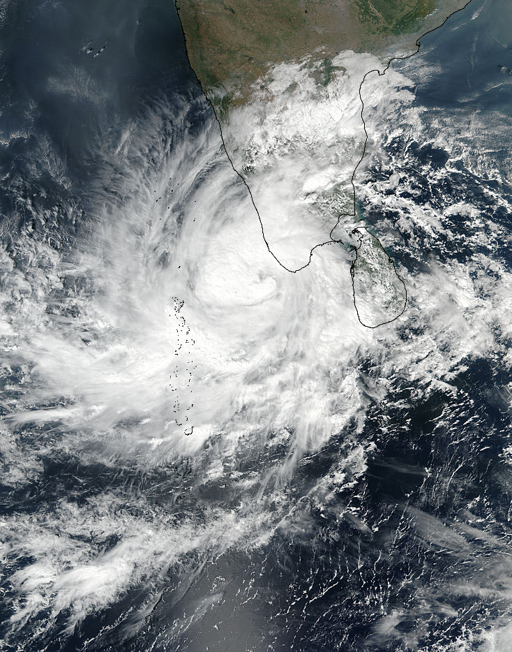 Tropical Cyclone Three (03B) off India - related image preview