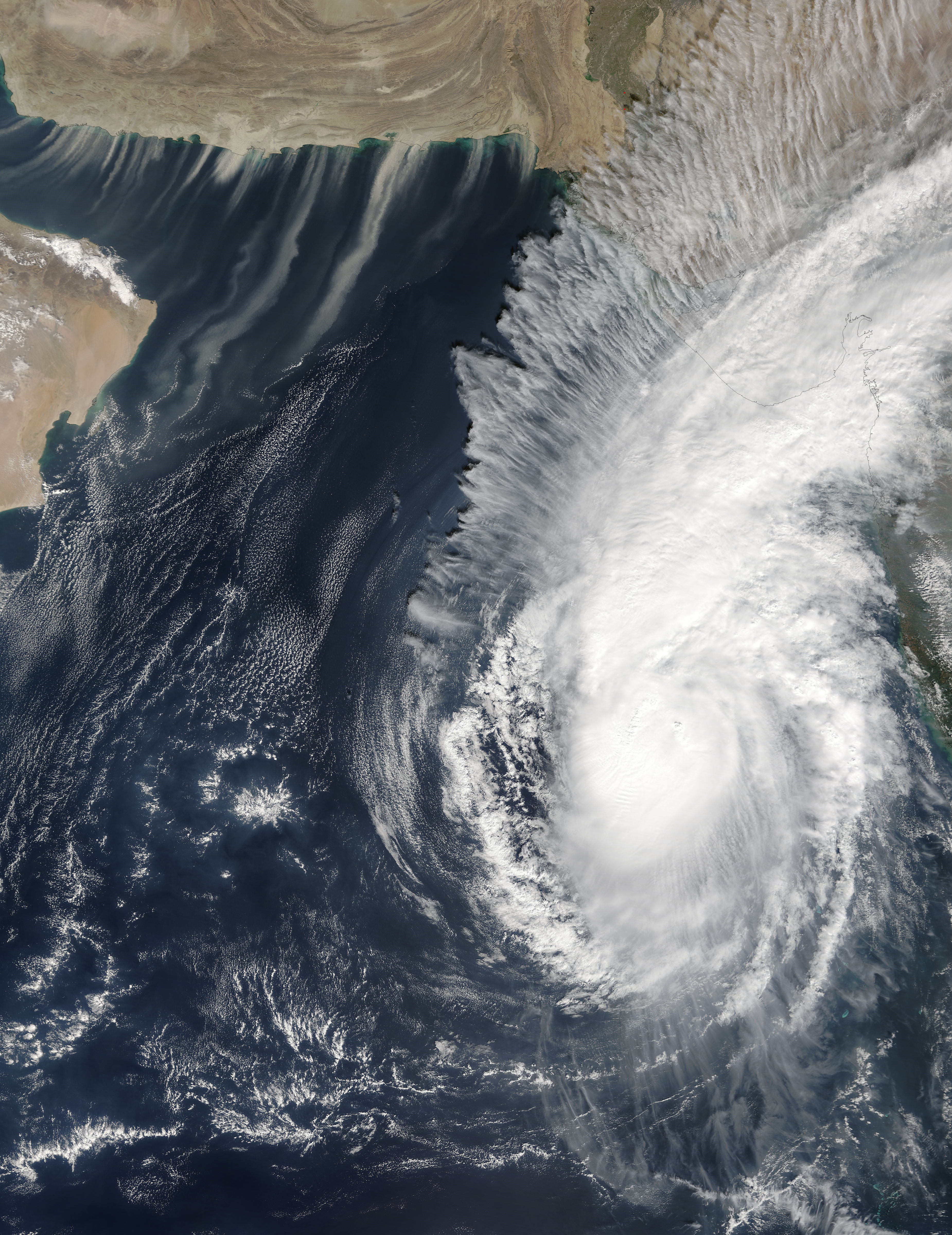 Tropical Cyclone Ockhi (03B) and dust storms in the Arabian Sea - related image preview