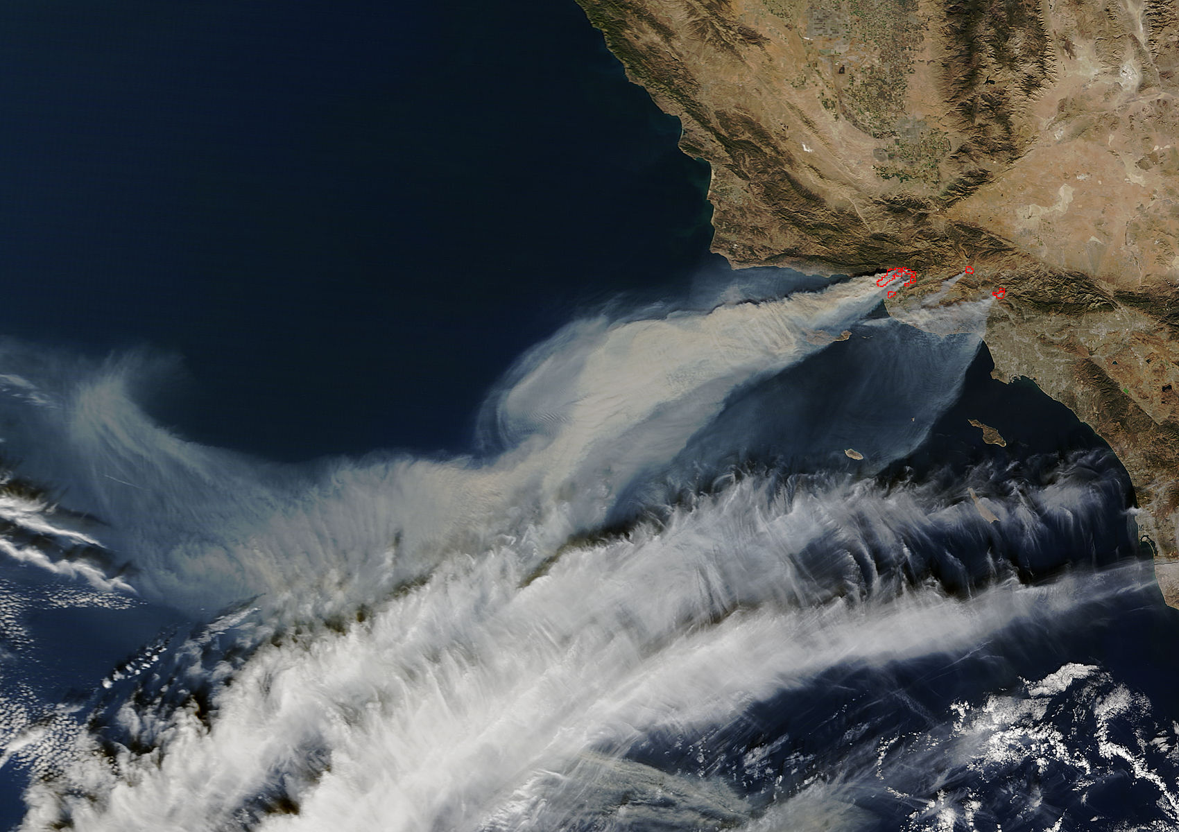 Fires in southern California (morning overpass) - related image preview