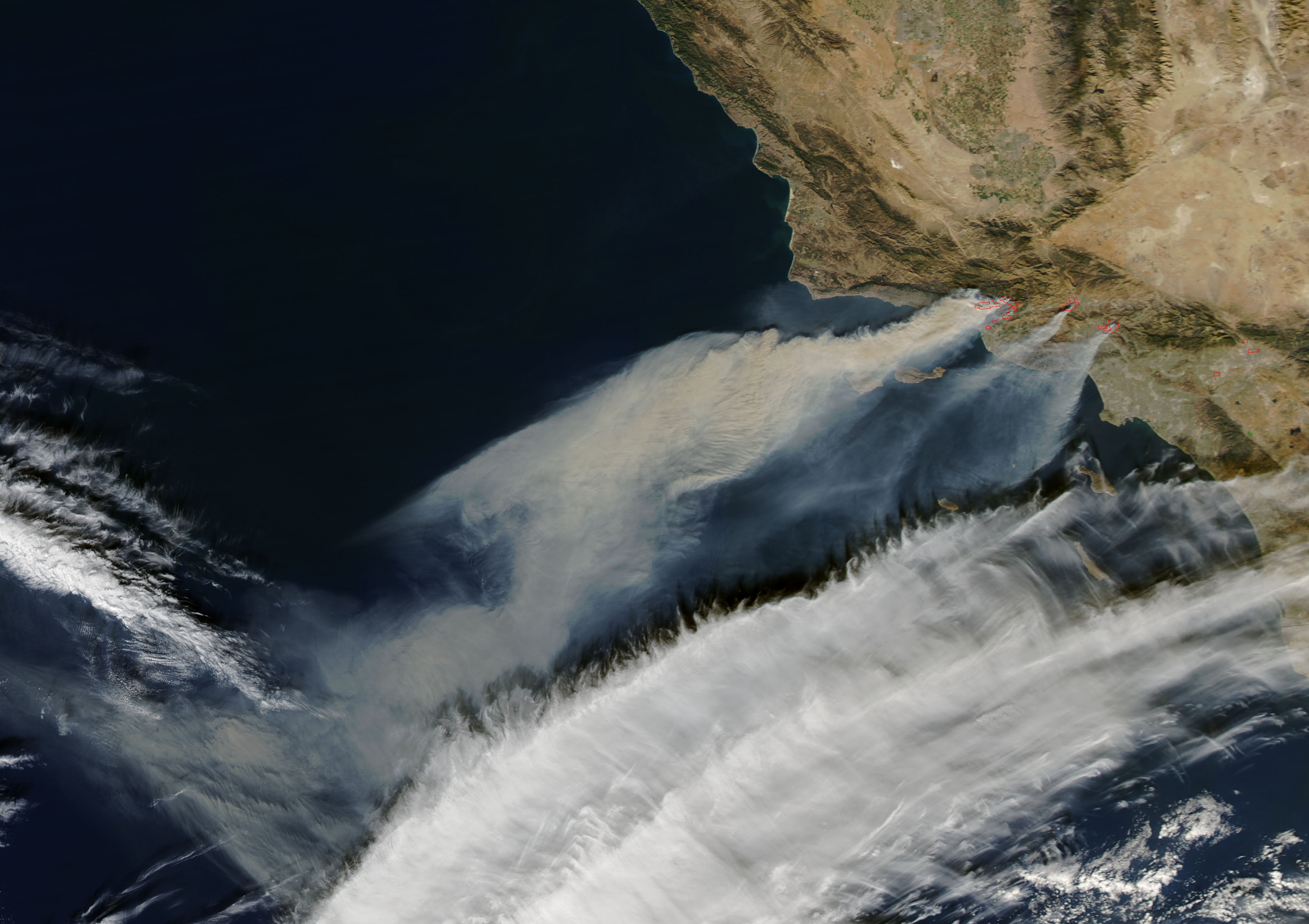 Fires in southern California (afternoon overpass) - related image preview