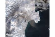 Plume from Shiveluch, Kamchatka Peninsula