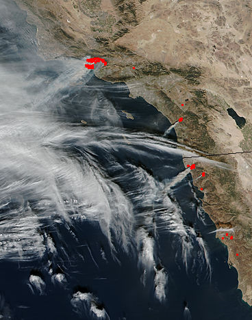 Fires in southern California (SNPP overpass) - related image preview