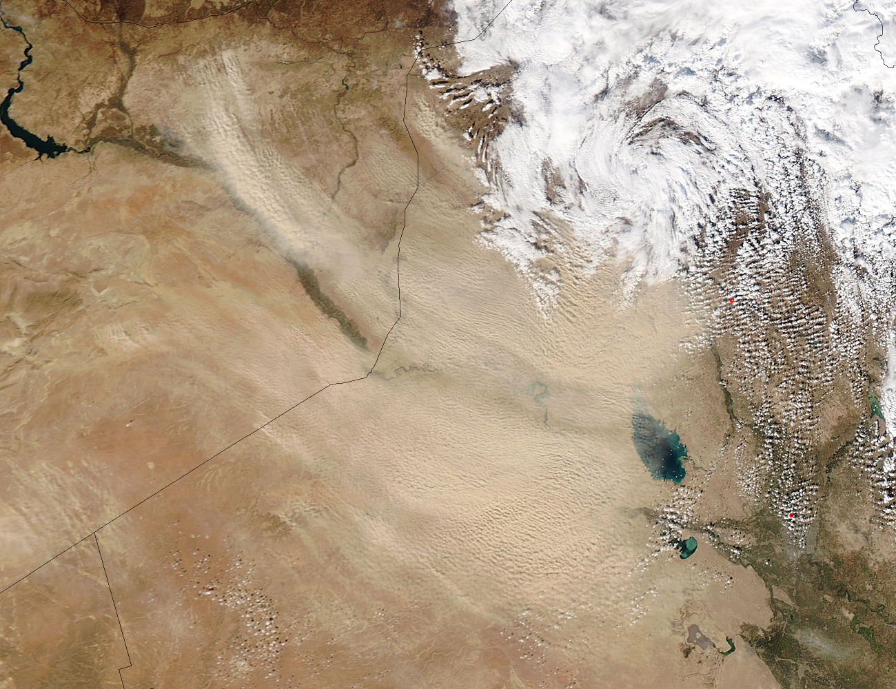 Dust storm in the Middle East - related image preview