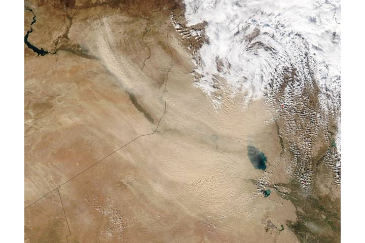 Dust storm in the Middle East - selected image