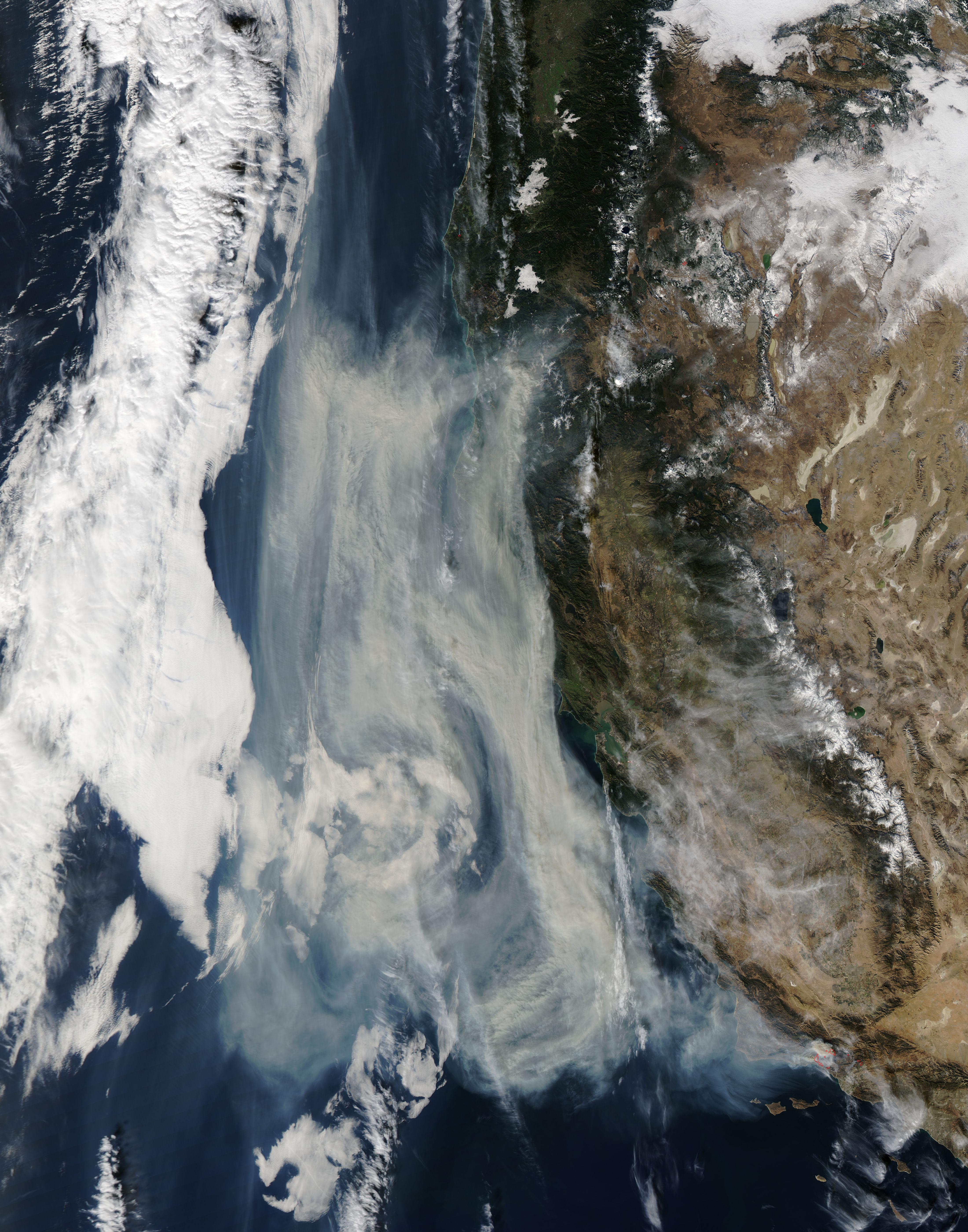 Smoke from California wildfires - related image preview