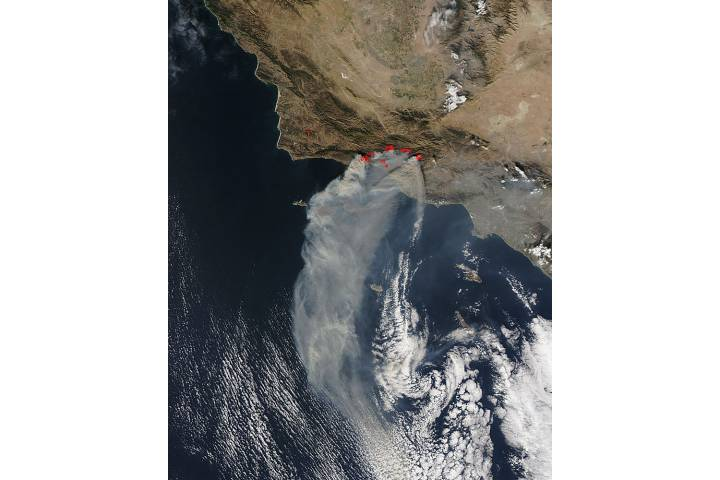 Fires in southern California - selected image