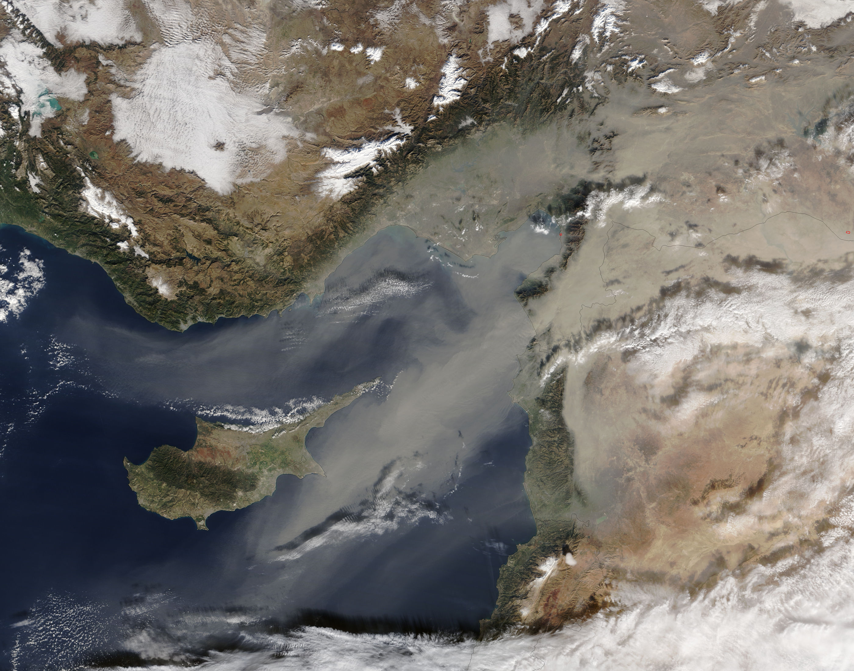 Dust storm over the eastern Mediterranean - related image preview