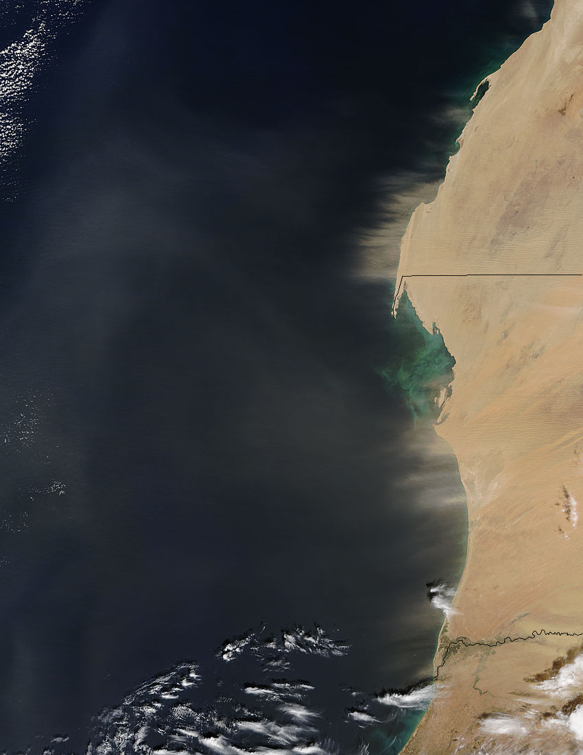 Dust storm off West Africa (morning overpass) - related image preview