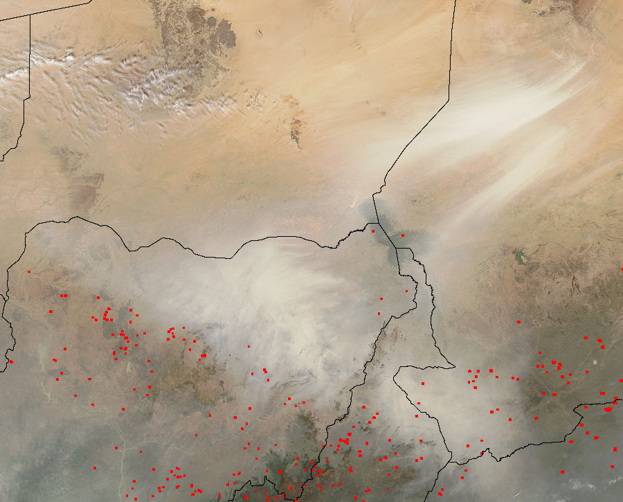 Dust storms from Bodélé Depression, Chad - related image preview