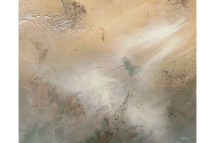 Dust storms from Bodélé Depression, Chad - selected image