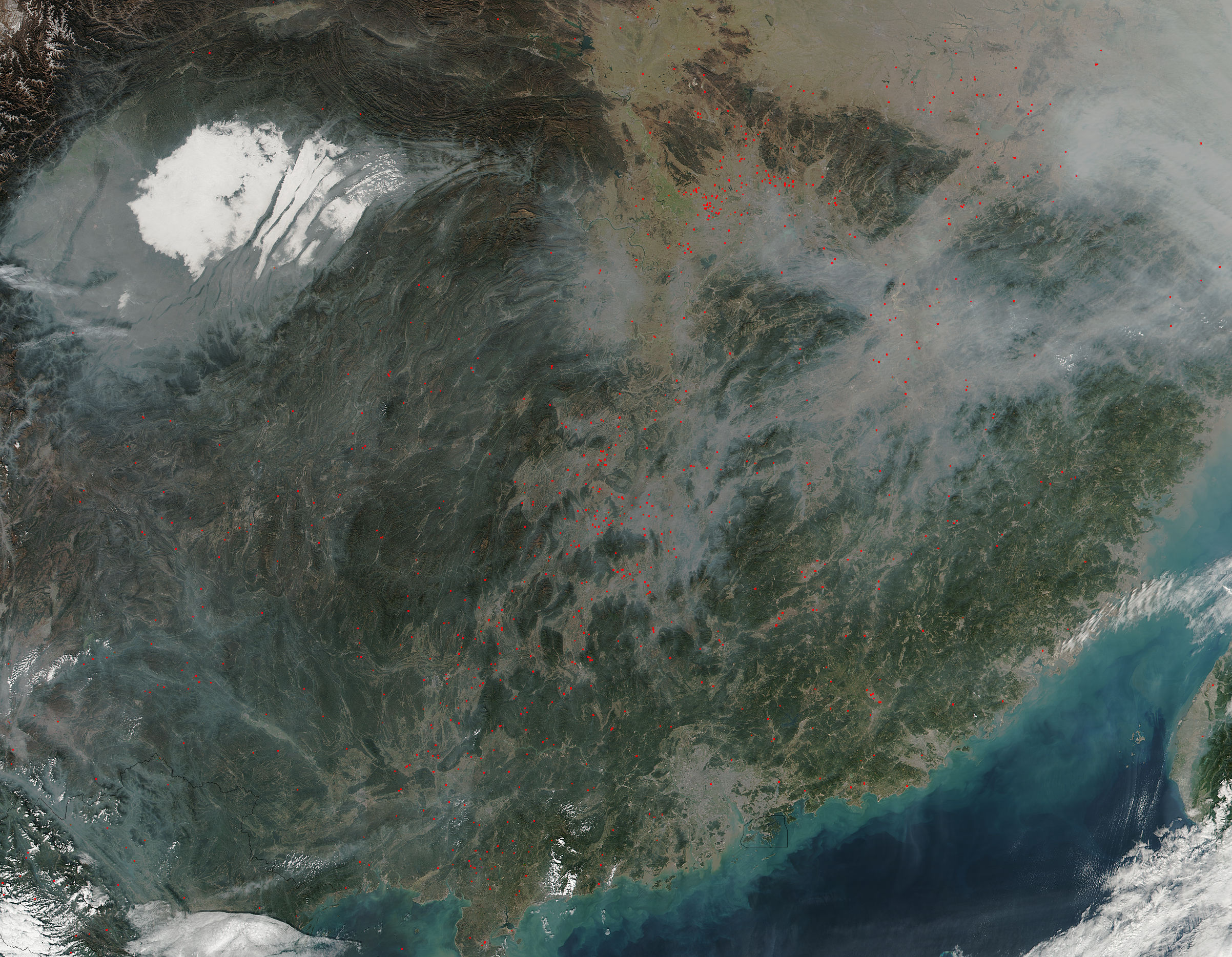 Fires in southeastern China - related image preview