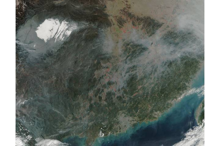 Fires in southeastern China - selected image
