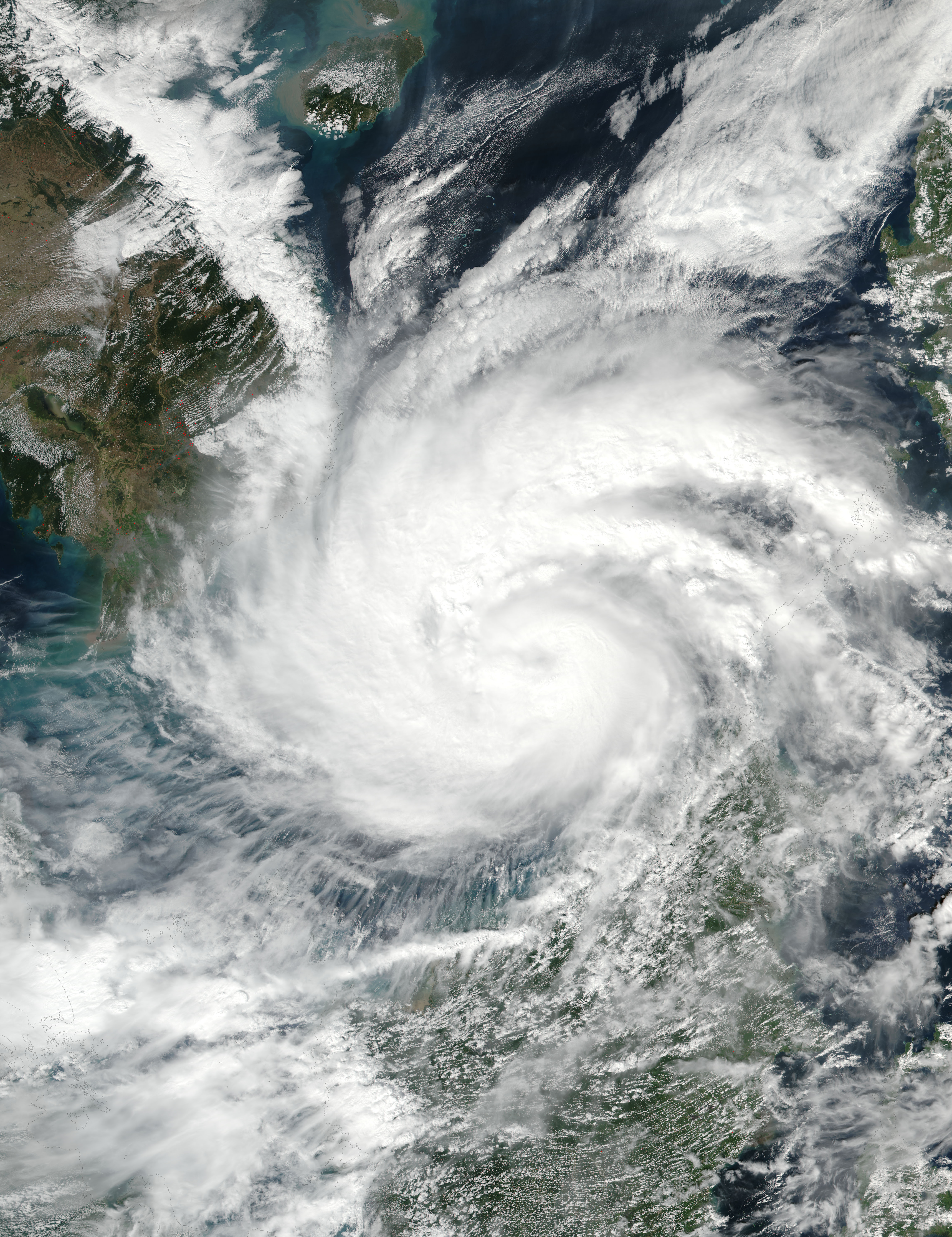 Typhoon Tembin (33W) in the South China Sea - related image preview