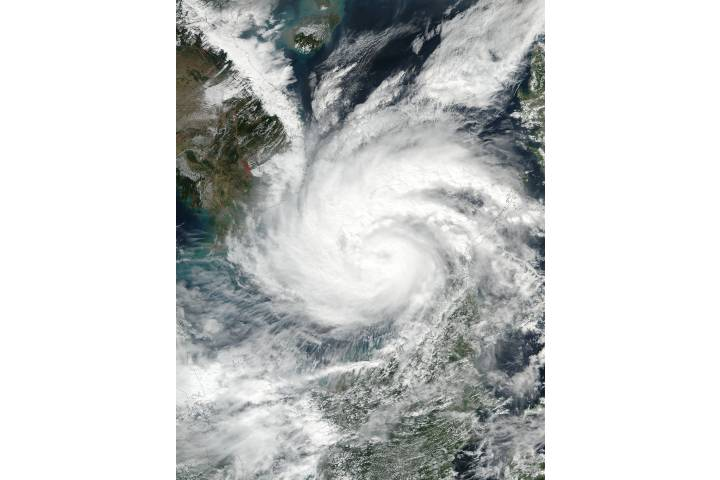 Typhoon Tembin (33W) in the South China Sea - selected image