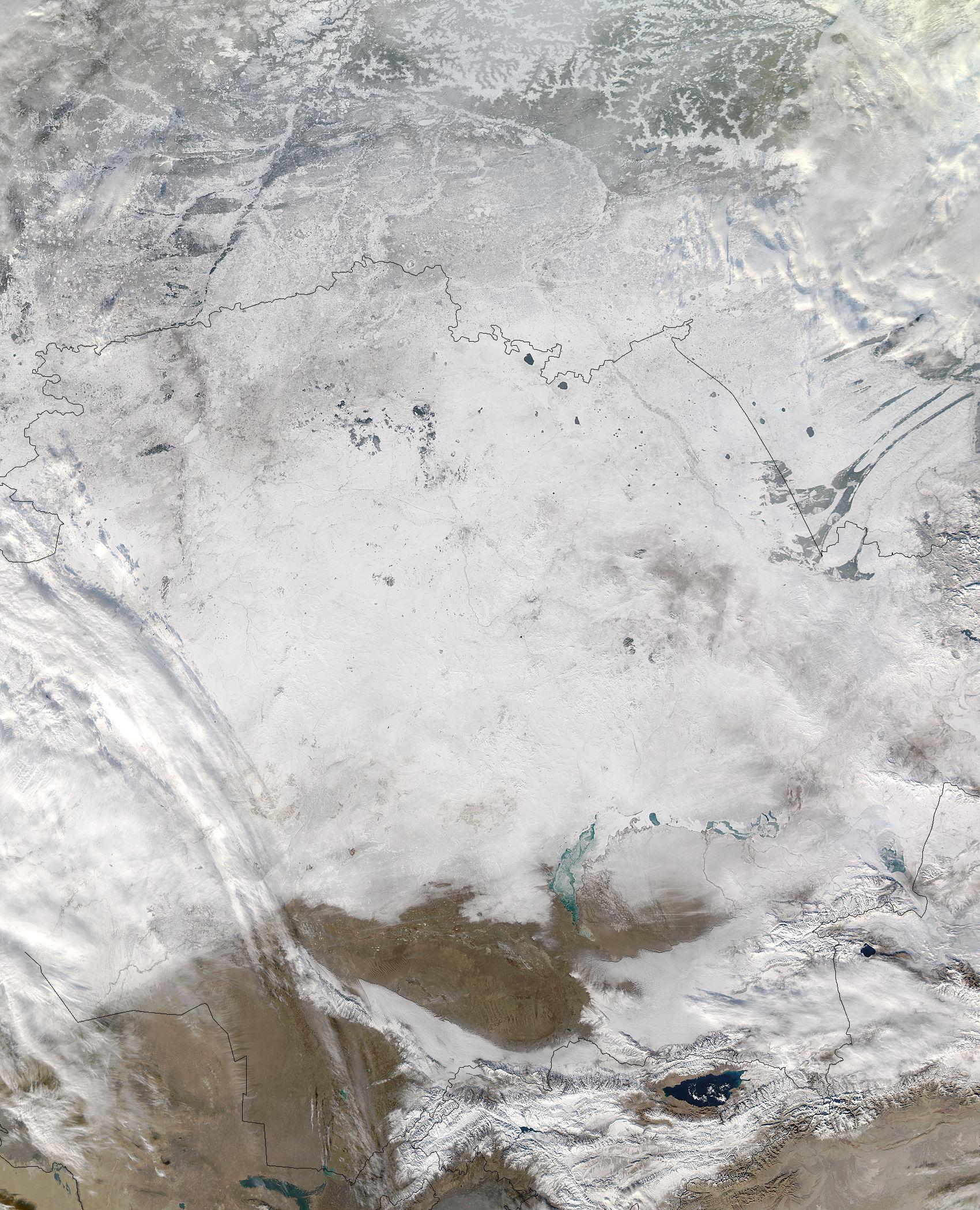 Snow across eastern Kazakstan - related image preview