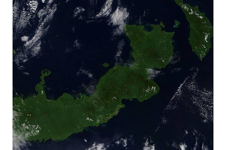 Plume from Ulawun, New Britain, Papua New Guinea - selected image
