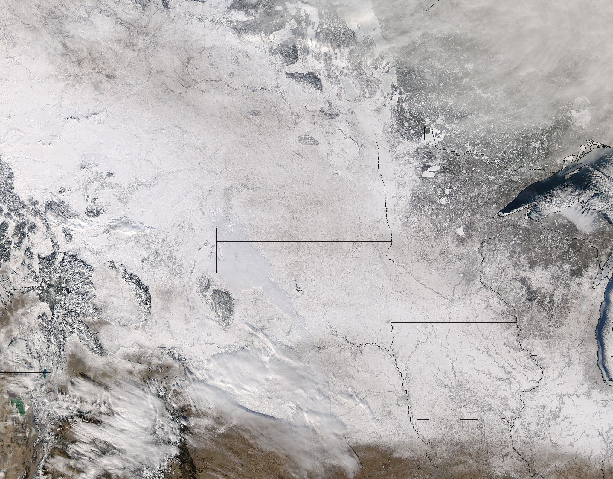 Snow across the northern plains - related image preview