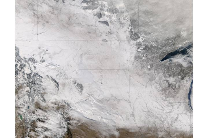 Snow across the northern plains - selected image