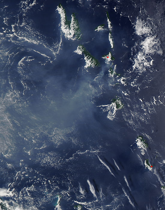 Vog from Ambrym and Yasur volcanoes, Vanuatu - related image preview