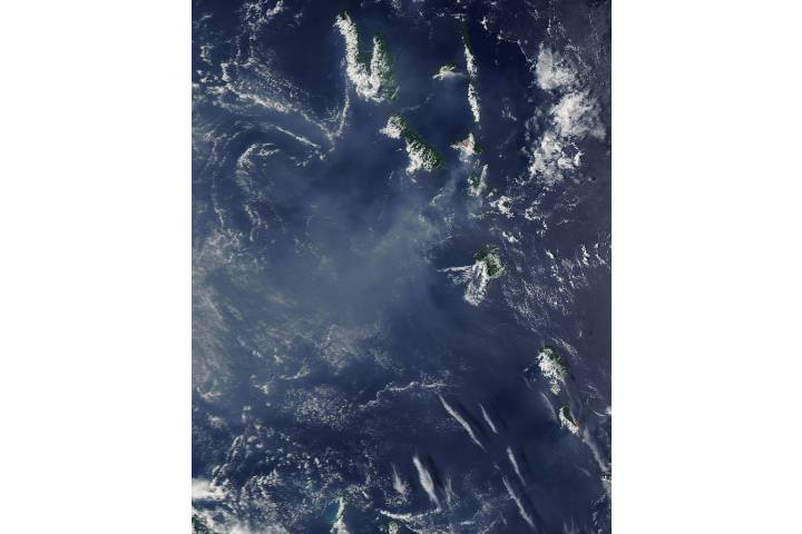 Vog from Ambrym and Yasur volcanoes, Vanuatu - selected image