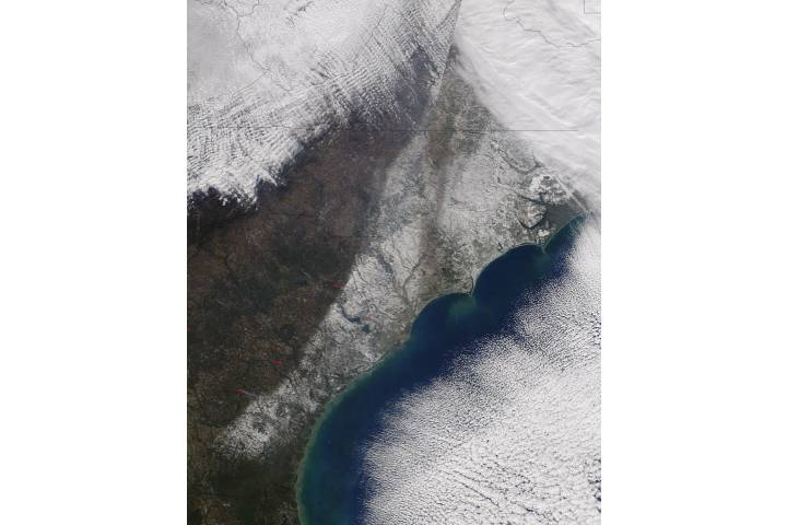 Snow across the southeastern United States - selected image