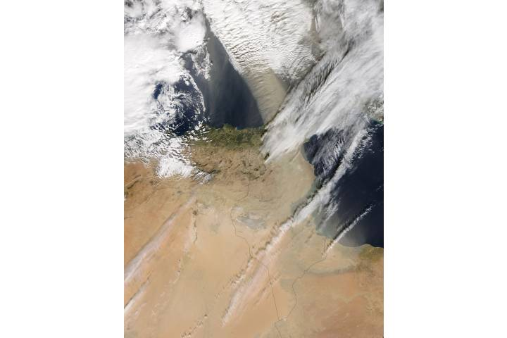 Dust storm over the western Mediterranean - selected image