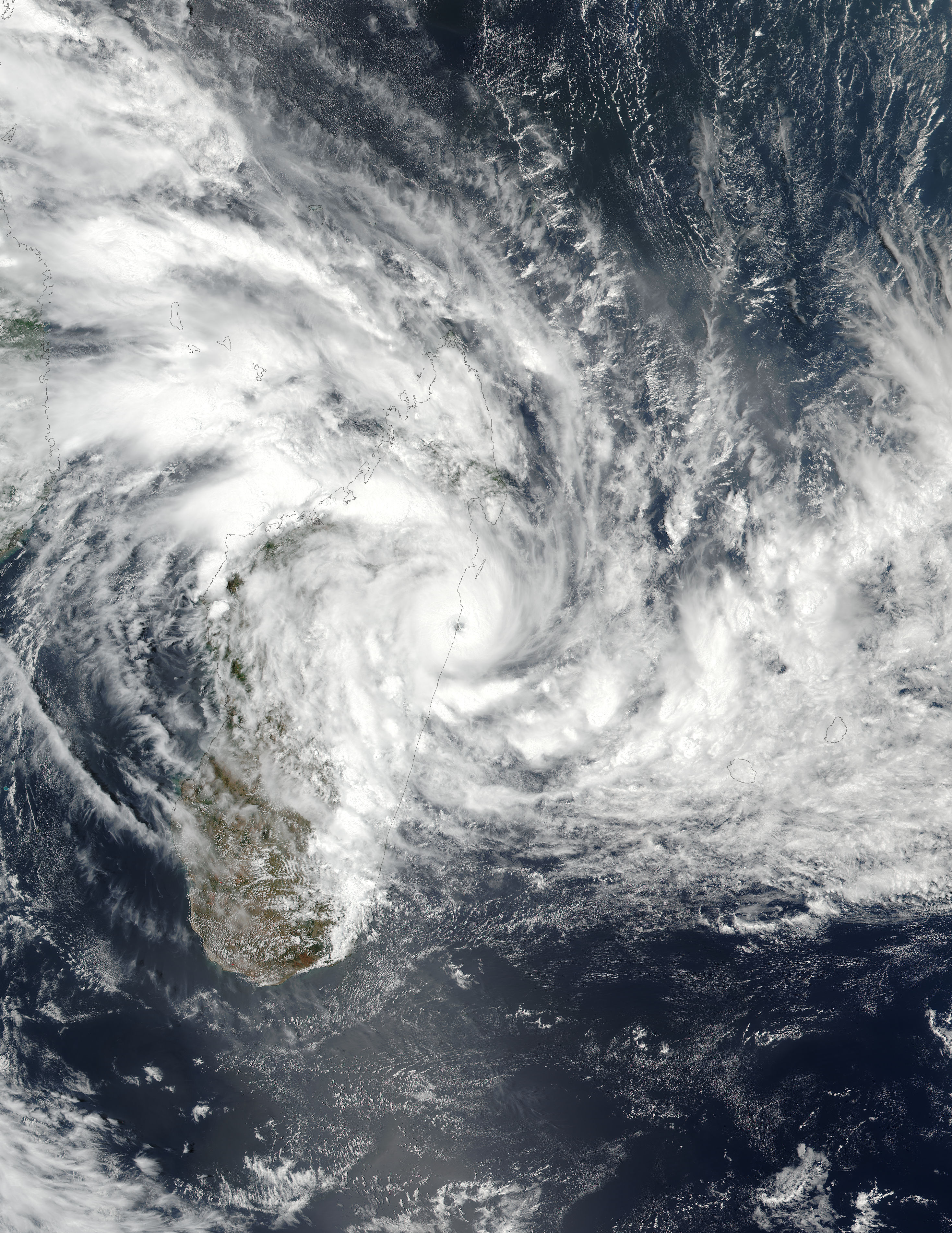 Tropical Cyclone Ava (03S) over Madagascar - related image preview