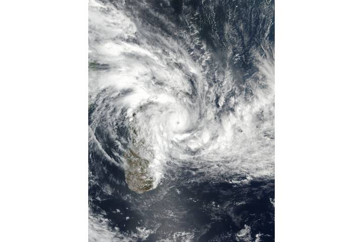Tropical Cyclone Ava (03S) over Madagascar - selected image
