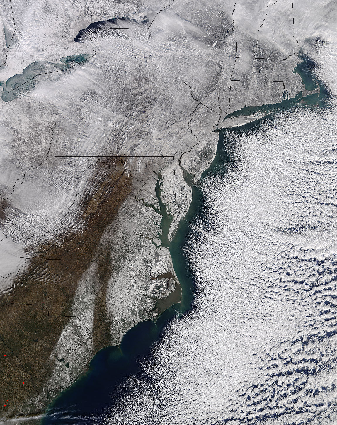 Snow along the eastern seaboard - related image preview