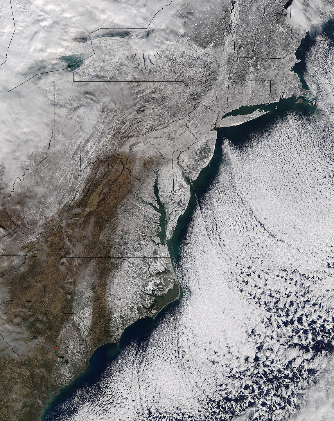 Snow and sea ice along the eastern seaboard - related image preview