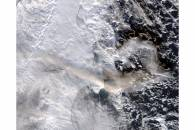 Plume from Shiveluch, Kamchatka Peninsula (afternoon overpass)