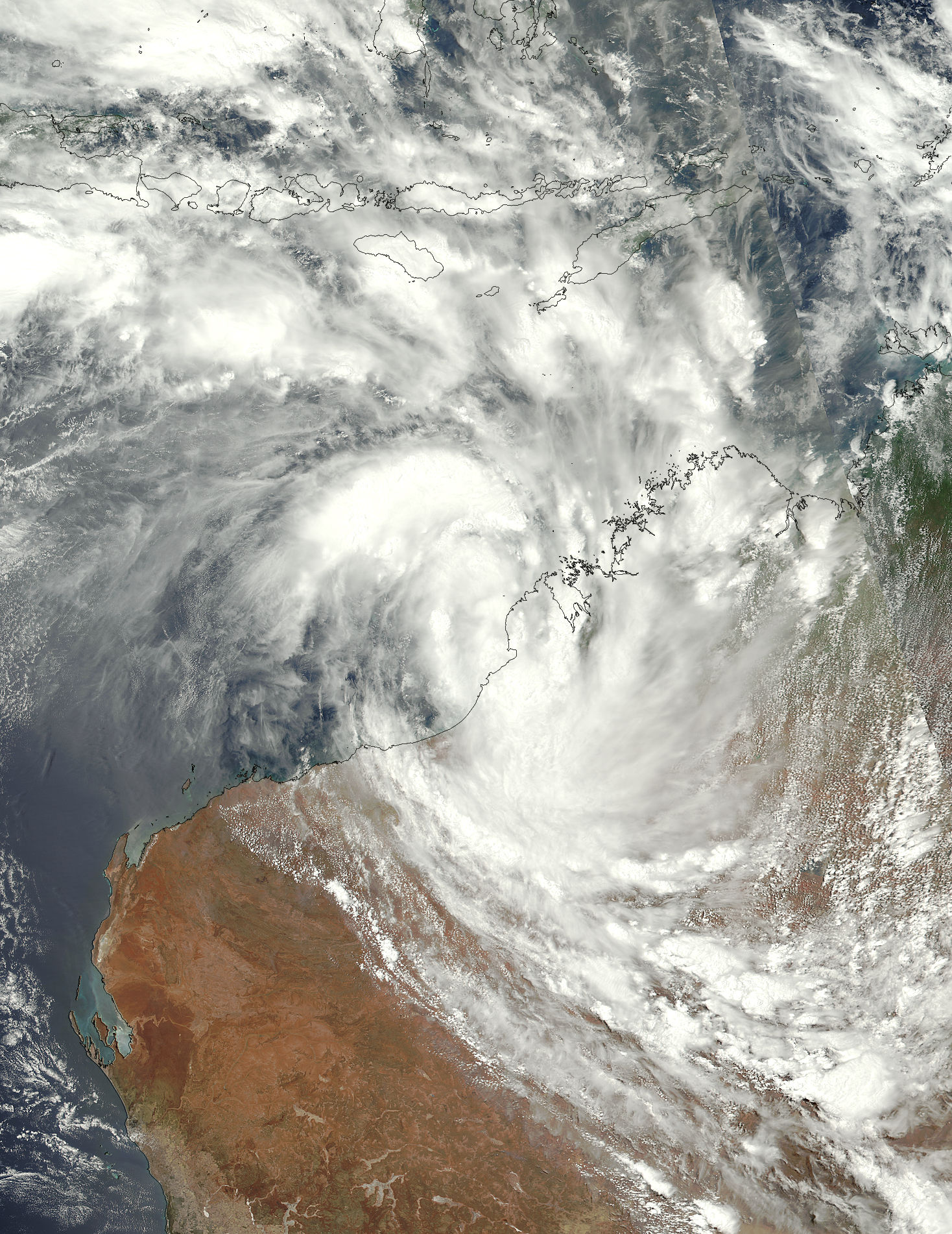 Tropical Cyclone Joyce (05S) over Western Australia - related image preview