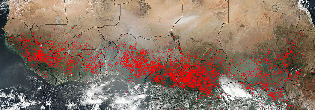Fires across Central Africa - related image preview