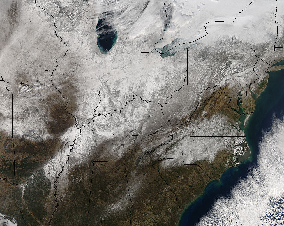 Snow across the eastern United States - related image preview